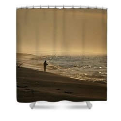 Shower Curtain featuring the photograph A Fisherman's Morning by GJ Blackman