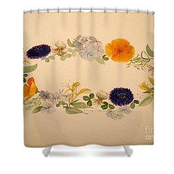 A Flower Circle Shower Curtain