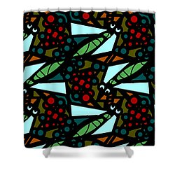 Shower Curtain featuring the digital art A Fly Of Sorts And Berries by Elizabeth McTaggart
