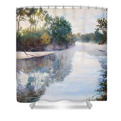 A Foggy Day Shower Curtain by Nancy Stutes
