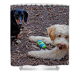 A Friend Shower Curtain by Sandra Clark