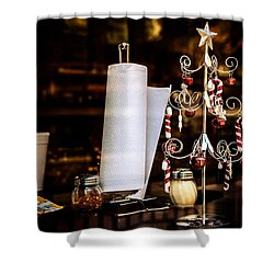 A Fritos Kind Of Christmas Shower Curtain by Melinda Ledsome