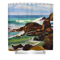 Shower Curtain featuring the painting A Frouxeira Galicia by Pablo Avanzini