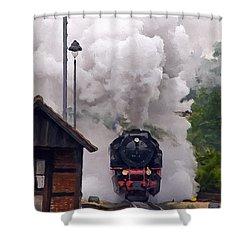 A Full Head Of Steam Shower Curtain