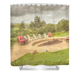 A Gathering Of Friends Shower Curtain by Heidi Smith