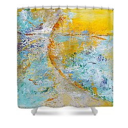 A Gentle Convergence Shower Curtain