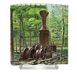 A Ghost In The Forest Shower Curtain