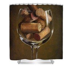 A Glass Of Cork Shower Curtain