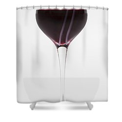 A Glass Of Red Wine Shower Curtain by Diane Macdonald