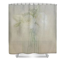 A Glimpse Of Roses Shower Curtain