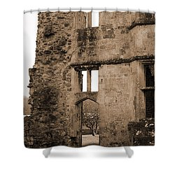 A Glimpse Of Titchfield Abbey Orchard Shower Curtain by Terri Waters