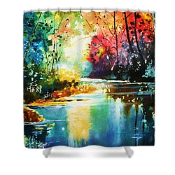 A Glow In The Forest Shower Curtain