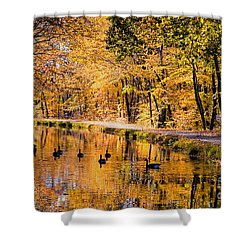 A Golden Afternoon Shower Curtain