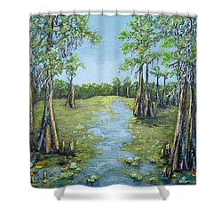 A Good Day For Fishing Shower Curtain by Suzanne Theis