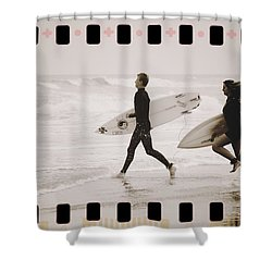 Shower Curtain featuring the photograph A Good Day To Surf by Alice Gipson