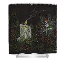 A Good Long Think Shower Curtain by Dawn Fairies