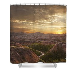 A Good Sunrise In The Badlands Shower Curtain