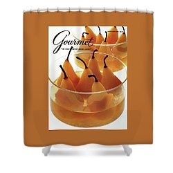 A Gourmet Cover Of Baked Pears Shower Curtain