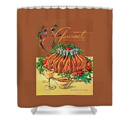 A Gourmet Cover Of Chicken Shower Curtain