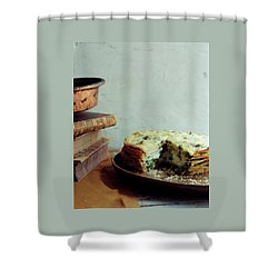 A Gourmet Torte Shower Curtain by Romulo Yanes