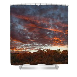A Grand Sunset 2 Shower Curtain