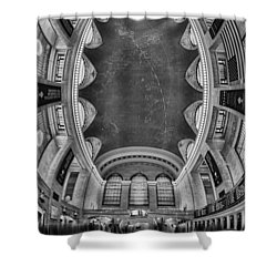 A Grand View Bw Shower Curtain by Susan Candelario