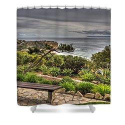 A Grand Vista Shower Curtain by Heidi Smith