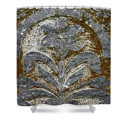 A Grave Detail Shower Curtain by Jean Noren