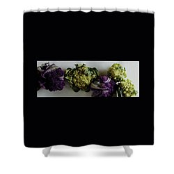 A Group Of Cauliflower Heads Shower Curtain by Romulo Yanes