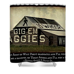 A Handful Of Aggies Shower Curtain