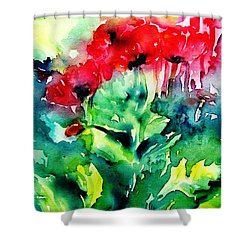A Haze Of Poppies Shower Curtain
