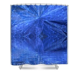 Shower Curtain featuring the painting A Healing In Blue Living Waters by Ray Tapajna