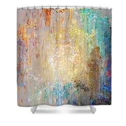A Heart So Big - Custom Version 2 - Abstract Art Shower Curtain by Jaison Cianelli