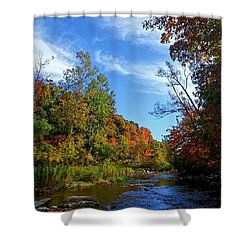 Shower Curtain featuring the photograph A Hidden Creek by Kelly Mills