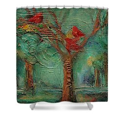 A Home In The Woods Shower Curtain