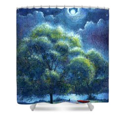 Shower Curtain featuring the painting A Hope And A Future by Retta Stephenson