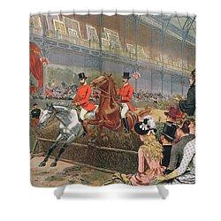 A Horse Race Shower Curtain by Adrien Emmanuel Marie