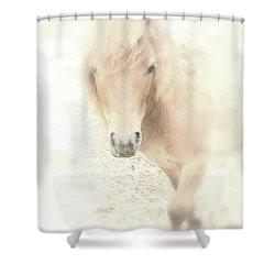 A Horse's Spirit Shower Curtain by Karol Livote