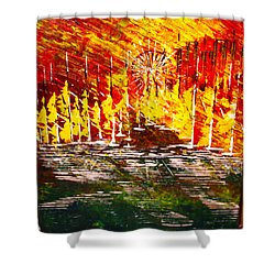 A Hot Summer Day.- Sold Shower Curtain by George Riney