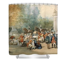 A Hunting Breakfast In England, 1870 Shower Curtain by Eugene-Louis Lami