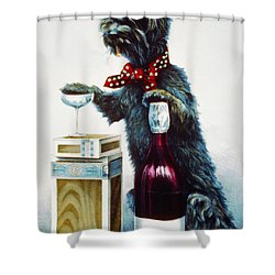 A Jolly Dog Shower Curtain by Currier and Ives