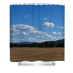 A June Panorama In Southern Oregon Shower Curtain by Mick Anderson
