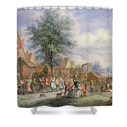 A Kermesse On St. Georges Day Shower Curtain by Angel-Alexio Michaut