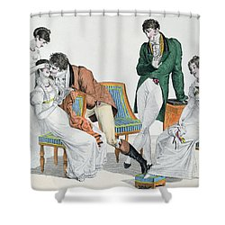 A Kissing Game Shower Curtain by French School