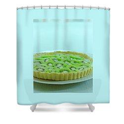 A Kiwifruit Tart Shower Curtain