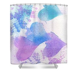 A Lace Of Hearts. Shower Curtain