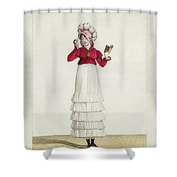 A Lady In A Levantine Hat Shower Curtain by Antoine Charles Horace Vernet