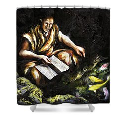 A Letter Shower Curtain