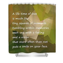 A Life Time Of Love Shower Curtain by Jeff Swan