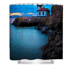 A Light In The Darkness Shower Curtain by Inge Johnsson
